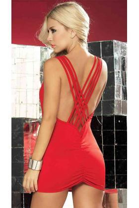 Merry See Özel Tasarım Kırmızı Mini Elbise